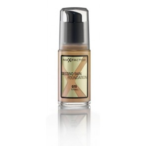 Max Factor Second Skin Foundation - 075 Golden for Women, 30 ml