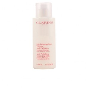 Clarins Anti-Pollution Cleansing Milk  for Women, 13.9 oz
