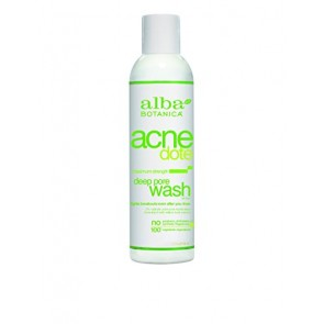 Alba Botanica Acne Dote Deep Pore Wash Oil-Free , 6 oz
