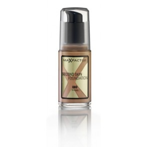 Max Factor Second Skin Foundation - 080 Bronze for Women, 30 ml