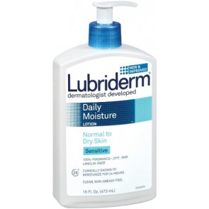 Lubriderm Daily Moisture Lotion  - Normal To Dry Skin Sensitive, 16 oz