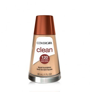 CoverGirl Clean Normal Skin Foundation - 120 Creamy Natural for Women, 1 oz