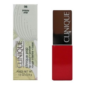 Clinique Clinique Pop Lip Colour + Primer Lipstick - 06 Poppy Pop for Women, 0.13 oz