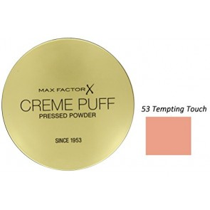 Max Factor Creme Puff Foundation - 53 Tempting Touch for Women, 21 g