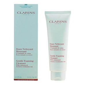 Clarins Gentle Foaming Cleanser With Cottonseed , 4.4 oz