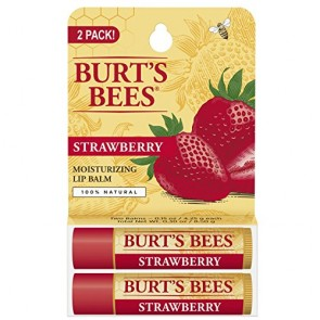 Burt's Bees Moisturizing Lip Balm Twin Pack  - Strawberry, 2 x 0.15 oz