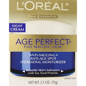 L'Oreal Paris Age Perfect Anti-Sagging Anti-Age Spot Hydrating Moisturizer , 2.5 oz