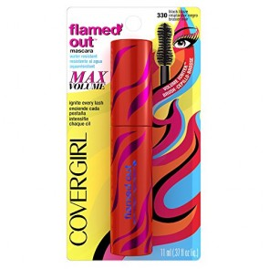 CoverGirl Flamed Out Water Resistant Mascara  - 330 Black Blaze for Women, 0.37 oz