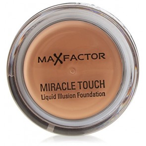 Max Factor Miracle Touch Liquid Illusion Foundation  - 85 Caramel for Women, 11.5 g