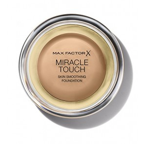 Max Factor Miracle Touch Liquid Illusion Foundation  - 80 Bronze for Women, 11.5 g