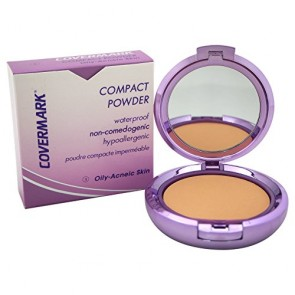 Covermark Compact Powder Waterproof Oily-Acneic Skin - 3 for Women, 0.35 oz