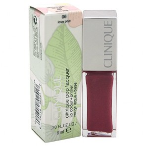 Clinique Pop Lacquer Lip Colour (Gloss) + Primer  - 06 Love Pop for Women, 0.2 oz