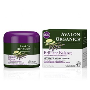 Avalon Organics Organics Ultimate Night Cream Lavender , 2 oz