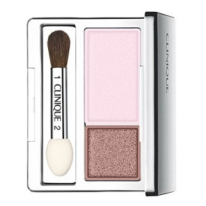 Clinique All About Shadow Duo - Seashell Pink / Fawn Satin - Violet & Tan Shimmer for Women, 0.07 oz