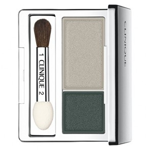 Clinique All About Shadow Duo - Nightcap - Silver & Dark Green for Women, 0.07 oz
