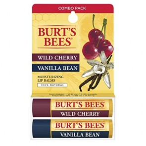 Burt's Bees Moisturizing Lip Balm Twin Pack  - Wild Cherry & Vanilla Bean, 2 x 0.15 oz