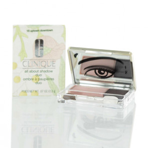 Clinique All About Shadow Duo - Uptown Downtown - Pink &Grey for Women, 0.07 oz