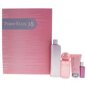 Perry Ellis 18 by Perry Ellis for Women - 4 Pc Gift Set 3.4oz EDP Spray, 0.25oz EDP Spray, 4oz Body