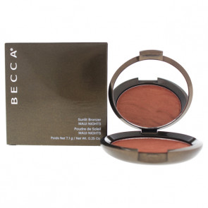 Sunlit Bronzer - Maui Nights by Becca for Women - 0.25 oz Bronzer