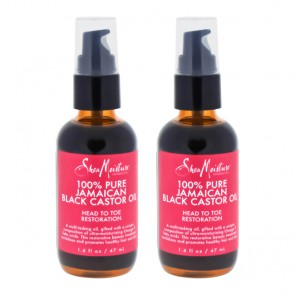 100% Pure Jamaican Black Castor Oil Head To Toe Restoration by Shea Moisture for Unisex - 1.6 oz Oil - Pack of 2