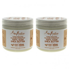 100% Raw Shea Butter Intensive Hair and Skin Moisture by Shea Moisture for Unisex - 15 oz Oil - Pack of 2