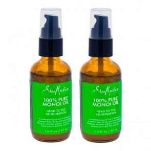 100% Pure Monoi Oil Head To Toe Illumination by Shea Moisture for Unisex - 1.6 oz Oil - Pack of 2