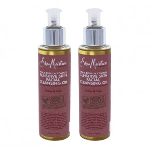 Peace Rose Oil Complex Sensitive Skin Cleansing Oil by Shea Moisture for Unisex - 4 oz Cleansing Oil - Pack of 2
