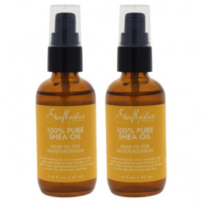 100% Pure Shea Oil Head To Toe Moisturization by Shea Moisture for Unisex - 1.6 oz Oil - Pack of 2