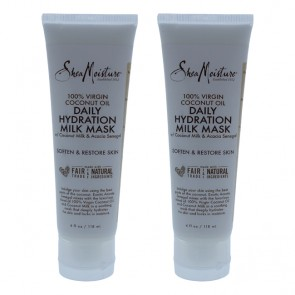 100% Virgin Coconut Oil Daily Hydration Milk Mask by Shea Moisture for Unisex - 4 oz Mask - Pack of 2