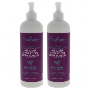 100% Coconut Oil and Organic Shea Butter All-Over Hydration Body Lotion by Shea Moisture for Unisex - - Pack of 2
