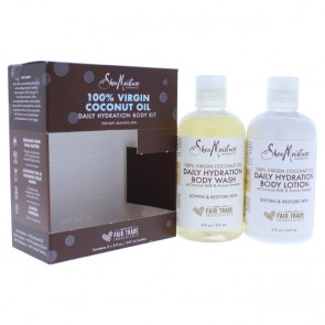 100 Percent Virgin Coconut Oil Daily Hydration Body Kit by Shea Moisture for Unisex - 2 Pc 8oz Body - Pack of 2