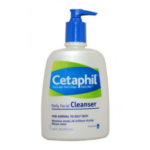 Cetaphil Daily Facial Cleanser For Normal To Oily Skin , 16 oz