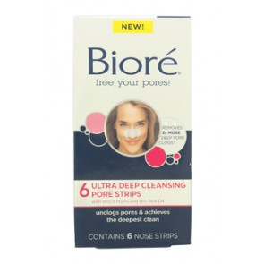 Biore Ultra Deep Cleansing Pore Strips  for Unisex