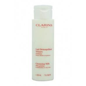 Clarins Cleansing Milk With Gentian , 7 oz (Tester)