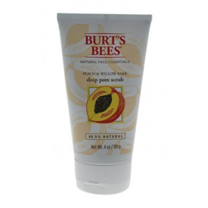 Burt's Bees Peach & Willow Bark Deep Pore Scrub  for Women, 4 oz